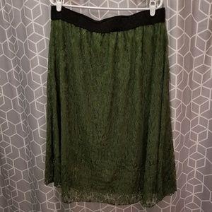 Mossy Green Lace Lola Skirt